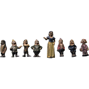 Miniature Lead Figures - Snow White & Seven Dwarfs