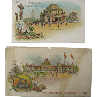 1901 Pan American Exposition - Post Card & Envelope