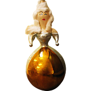 Made In Italy Large Glass Christmas Ornament - Woman