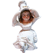 Charming Victorian Small Piano Baby Porcelain Figurine