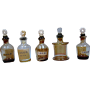 Collection Of Five Miniature Doll House Perfume Bottles - Leeds