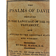 Scarce 1826 Miniature Book ~ Psalms Of David - By Isaac Watts