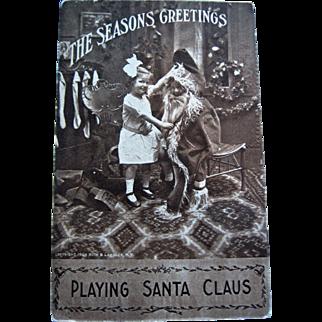 RPPC Christmas - Little Boy Dressed Like Santa