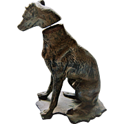 Vintage Miniature Metal Greyhound / Whippet Nodder / Bobblehead