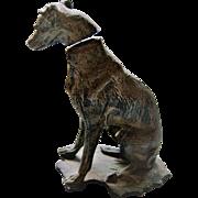 Vintage Miniature Metal Greyhound / Whippet Nodder / Bobblehead