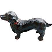 Miniature Composition Dachshund  For Doll House