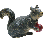 Miniature Composition Pet Squirrel & Ball For Doll House
