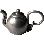 Tiny Vintage Sterling Silver Teapot Charm