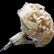 Miniature Unused Bouquet Of Wax Flowers In Original Packaging ~ Paris, France