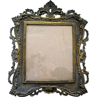 National Brass & Iron Works Victorian Ornate Picture Frame