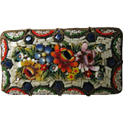 Colorful  Micro Mosaic  Pin / Brooch - Made In Italy