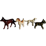 Collection of Miniature Metal Dogs For Dolls Dollhouse