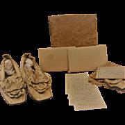 Victorian Wedding Shoes Silk Stockings Bridal Wreath W/ Provenance Ca. 1895 New York