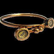 Victorian 9 KT Gold Fill Wedding By Pass Bracelet