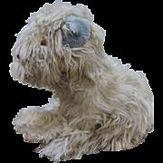 Wonderful Large Mohair Dog For Large Doll