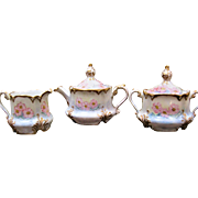 Handpainted Bavarian Tea Set - Roses - Irma