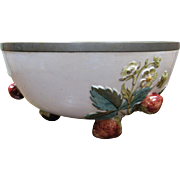 Fabulous Large Strawberry Majolica Bowl