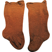 Vintage Cinnamon Brown Doll Stockings