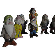 Vintage Miniature Bisque Snow White & 7 Dwarfs