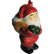 Miniature Vintage Bisque Santa Claus Ornament