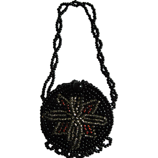 Miniature Beaded Purse For Doll