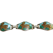 Vintage Enamel Bracelet - Ducks - For Large Doll
