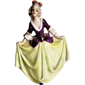German Miniature Porcelain Doll For Doll House - Dancing -