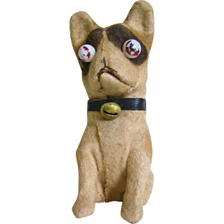 Vintage Squeaker Googly Dog Toy -  French Bulldog