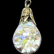 Large 14KT Sparkling Vintage Floating Opal Pendant - 7.3 Grams