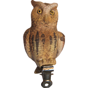 Figural Clip On Owl Christmas Ornament