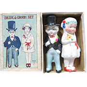Made In Japan Bisque Bride & Groom In Original Box