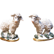 Antique Pair Of Miniature Dollhouse Sheep - Germany