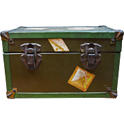 Metal Doll's Steamer Trunk Travel Stickers - Lindbergh