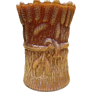 St Clair Slag Glass Toothpick Holder - Sheaf Of Wheat