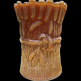 St Clair Slag Glass Toothpick Holder - Sheaf Of Wheat