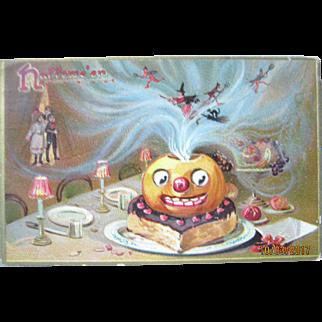 Tuck Halloween Pumpkin Postcard - Witches Ca. 1908