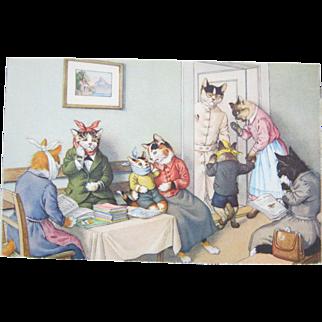 Alfred Mainzer, NY - Poor Little Kitties At The Dentist - Max Kunzli Switzerland