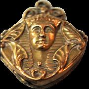 Egyptian Revival 10KT Gold Fill Locket - Wightman & Hough Ca. 1910