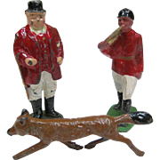 Vintage Cast Metal Miniature Fox Hunt Figures