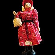 Folky Vintage Walnut Doll - Arkansas Joan