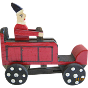 Miniature Clown In Toy Truck For Christmas Display