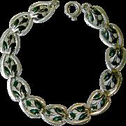 Dainty Hand Enameled Vintage Link Bracelet
