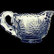 Vintage Beautifully Cut Glass Cream Pitcher