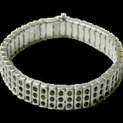 Vintage Sterling Silver & Marcasite Bracelet, c. 1923