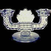 Fostoria American Glass Elegant Double Candle Holder
