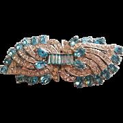 Vintage Joseph Wiesner of New York-Dress Clips Duette Pin Brooch