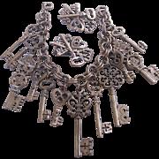 Vintage Key Bracelet and Earrings Set