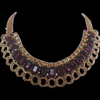 Kirks Folly Purple Glass Necklace