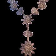 Vintage Cannetille Filigree Floral Necklace
