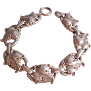 Vintage Sterling Leaf Bracelet